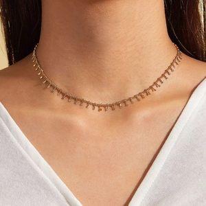 Gold Fringe Tassel Necklace